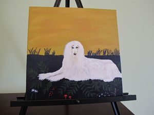 Queen of the hill - jacquelinedogpaintings
