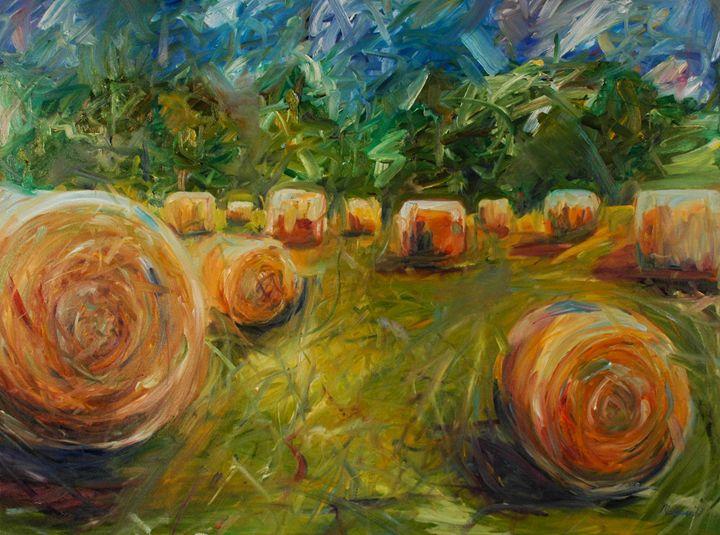 Sun on the Bale - Melanie Lyons Art