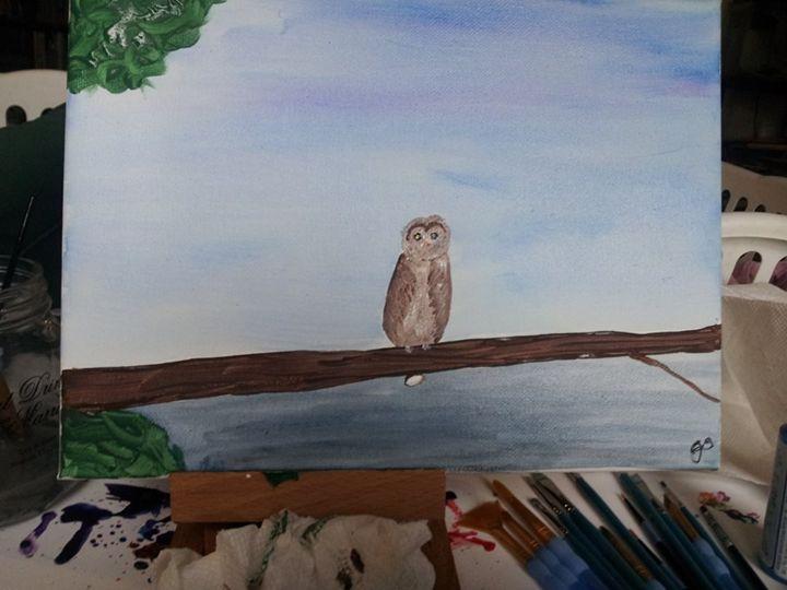 Lone owl - Craft Stuffs