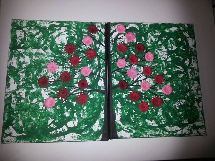 double flowered tree - Craft Stuffs