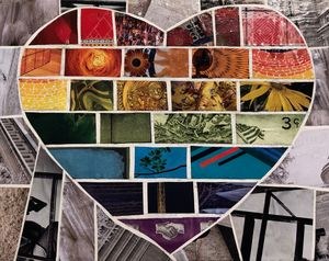 Heart-shaped Rainbow Flag - Debbie Gibbs
