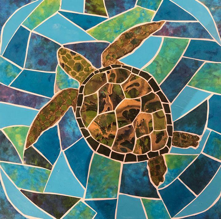 Sea Turtle Swimming - Debbie Gibbs