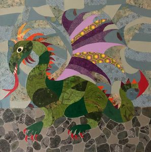 Purple-Winged Dragon - Debbie Gibbs