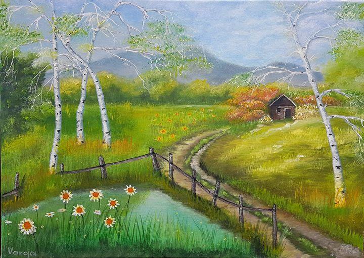 birches in spring - VargaArt