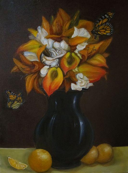 Orange - Mantel Art
