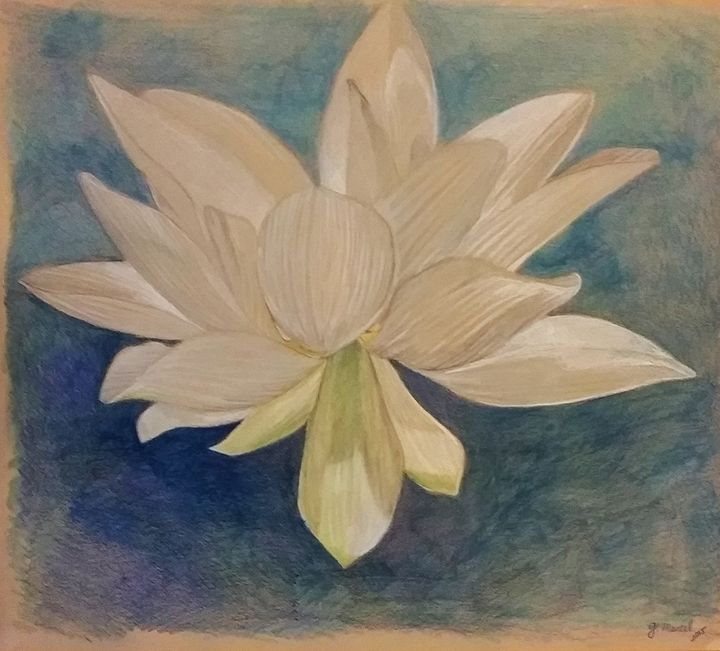 White Lotus - Mantel Art