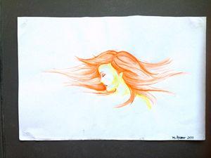Summer breeze, red hair