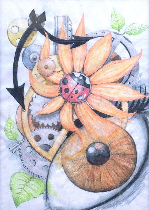 SteamPunk Garden - Maria Kramer Artistic Designs