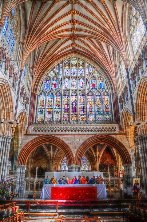 Inside Exeter Cathedral - Stephen Walton