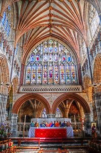 Inside Exeter Cathedral