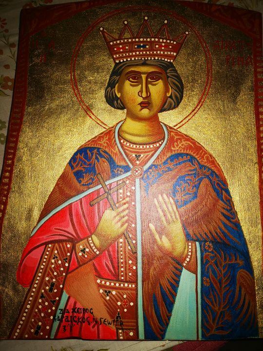 Saint aikaterina - Byzantine icons