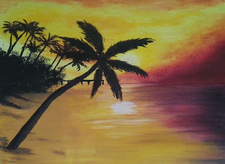 Tropical Sunset - June Rorison