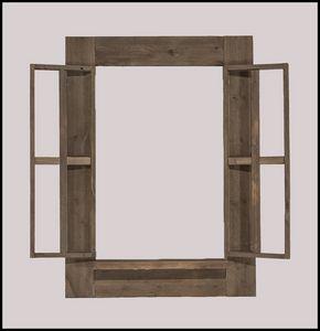 Vertical Barnwood Shutter Frame
