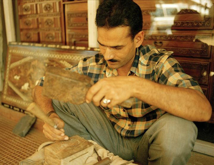 wood carver in goa india - james p connor