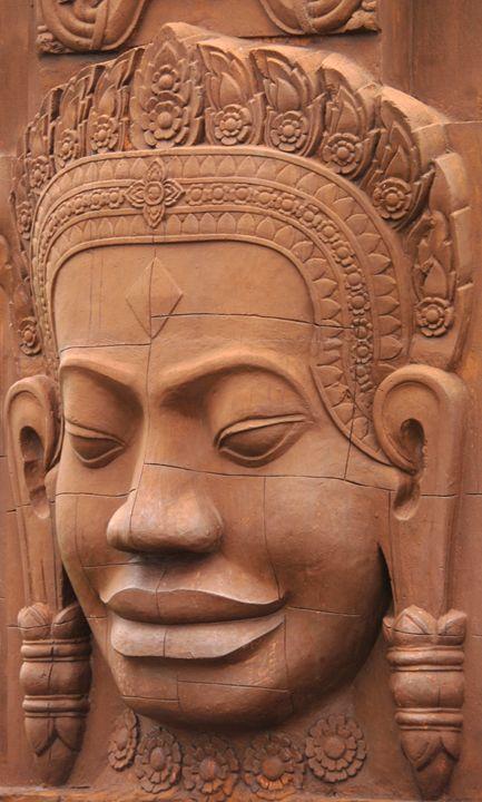 stone face Phnom penh Cambodia - james p connor