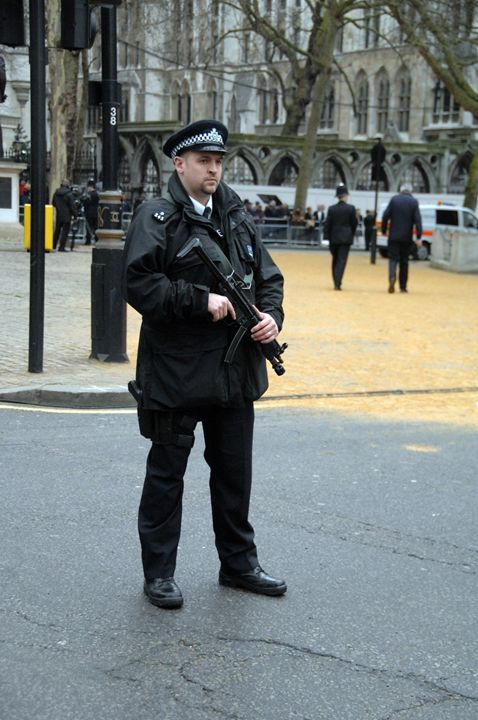 armed police on the streets london 2 - james p connor