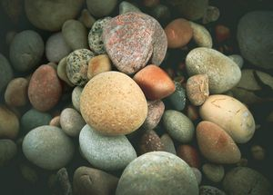Photograph of pebbles.