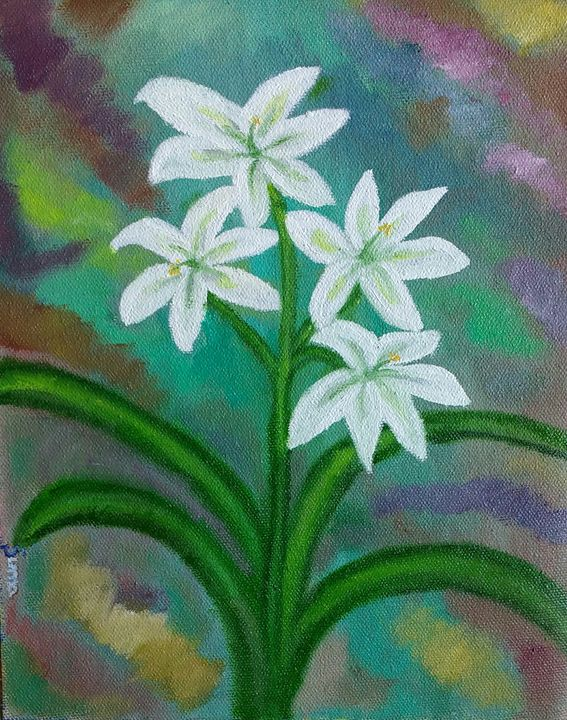 White Lilies - Art for Peace