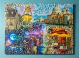 3D Puzzle Collage on Canvas