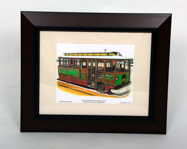 Beachcomber LIne Trolley Car - Michael Lowe Art