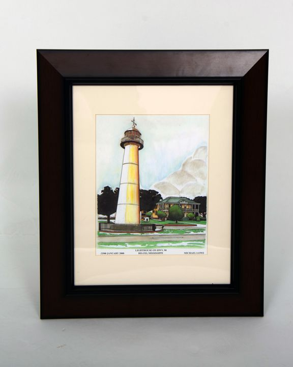 Lighthouse on HWY 90 - Michael Lowe Art