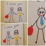 I love you Canvas 15cm x 15cm