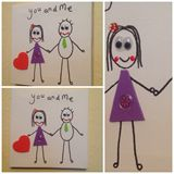 You and me Canvas 15cm x 15cm