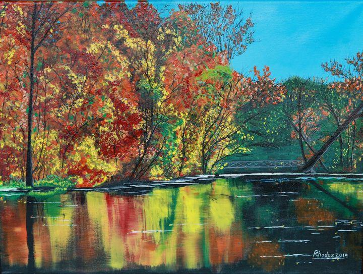 Fall Day at the Lake - Charles A. Rhodus
