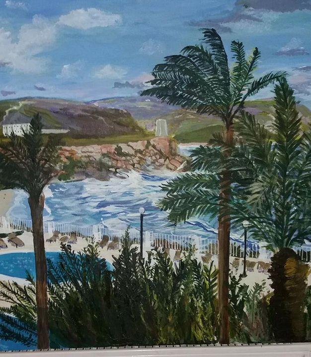 """Malta Room View   20"""" x 20"""" - jackienorman.art"""