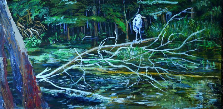 Heron River - jackienorman.art