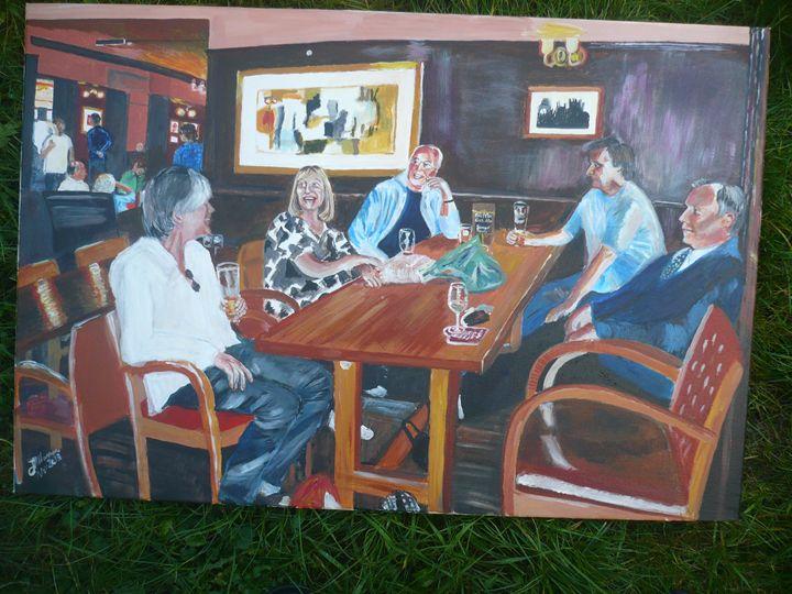 Meeting at the Pub - jackienorman.art