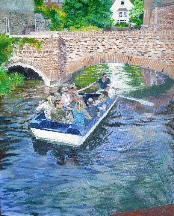 Canterbury River (Acrylic) - jackienorman.art