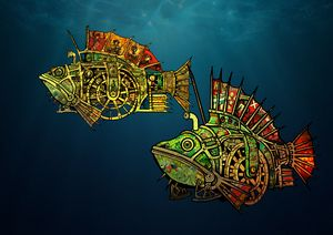 Steampunk fishes