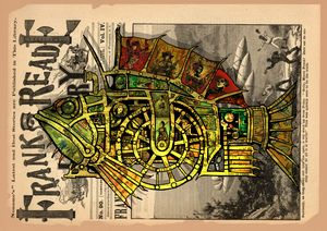 Steampunk mounted fish