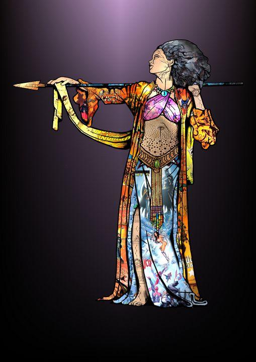 The Huntress - Comic Art by BLZ Bob