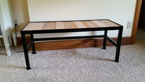 Steel bench with Oak boards