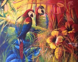 The colored Birds