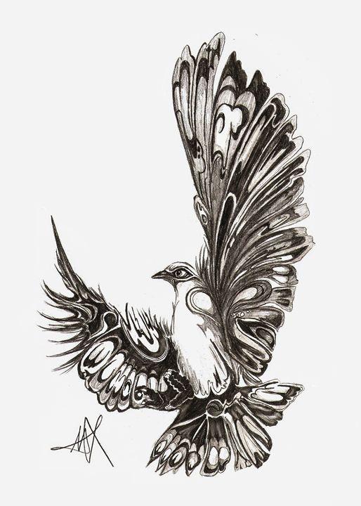 Gray Feathers - Bluestone