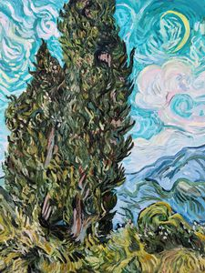 The Cypresses by Vincent van Gogh
