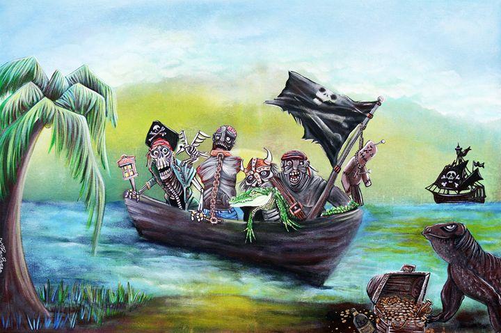 Pirate Booty Beach - Laura Barbosa Art