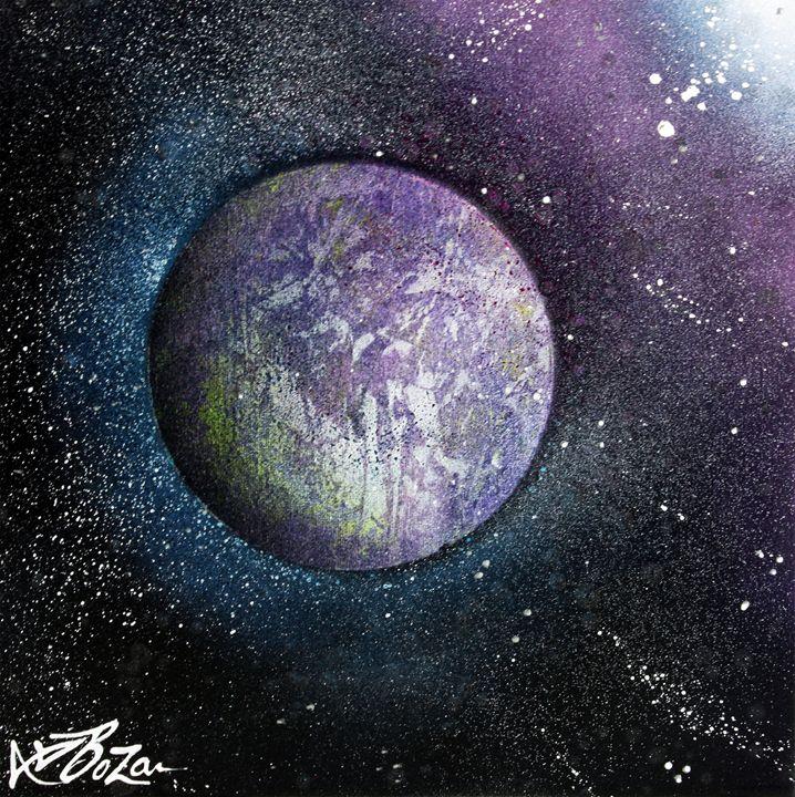 Purple Planet - Laura Barbosa Art