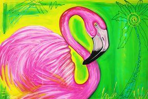 Electric Flamingo - Laura Barbosa Art