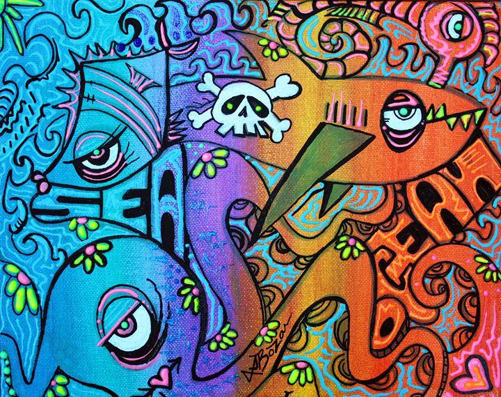 Ocean By The Sea - Laura Barbosa Art