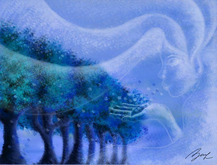 Blue Air - Beatriz Rivera Vargas Fine Art