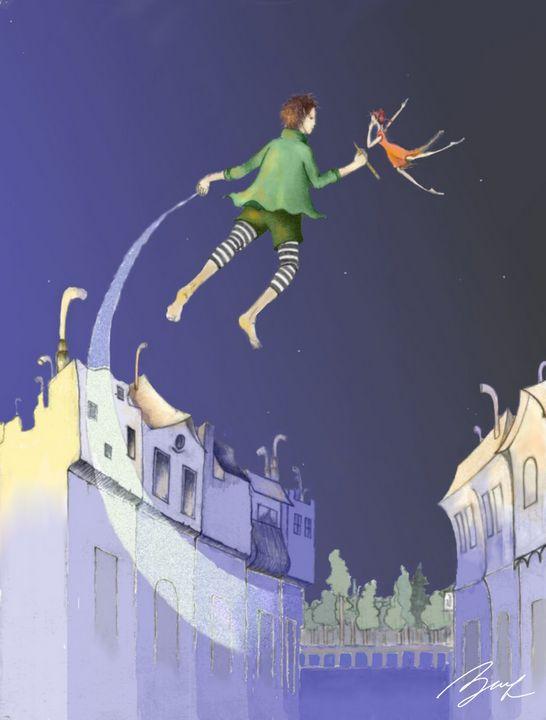 Peter Pan - Beatriz Rivera Vargas Fine Art