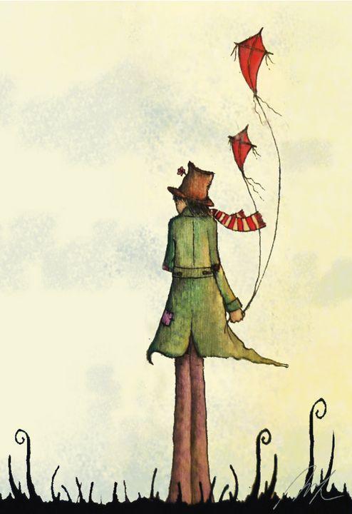 Flying Kites - Beatriz Rivera Vargas Fine Art