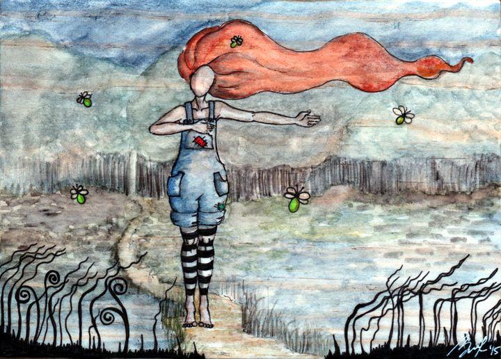 Dancing with Fireflies - Beatriz Rivera Vargas Fine Art