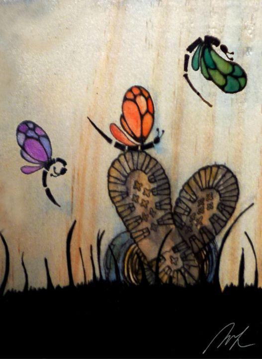 On the Grass - Beatriz Rivera Vargas Fine Art