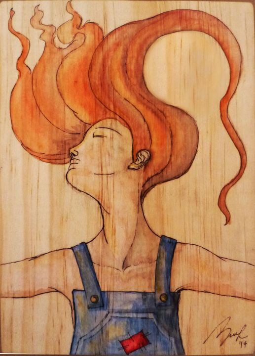 She's in the Wind - Beatriz Rivera Vargas Fine Art