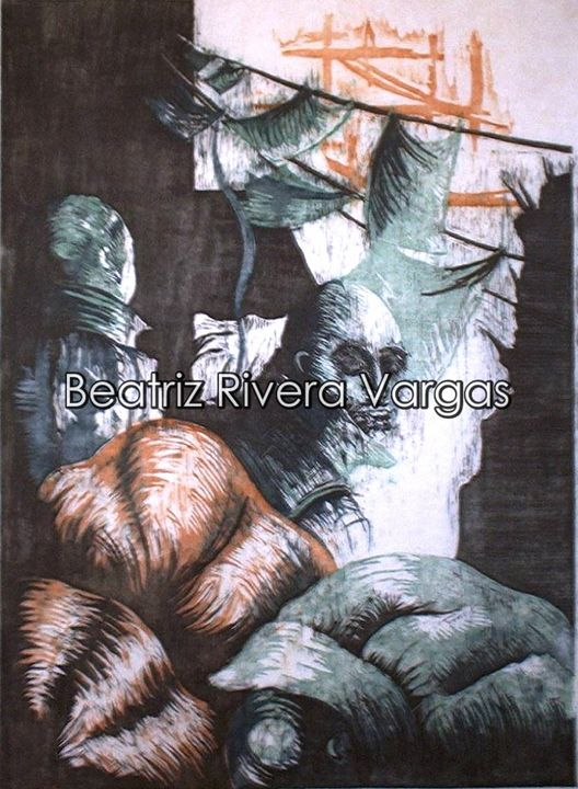 We Fell Together - Beatriz Rivera Vargas Fine Art